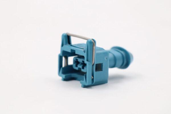 2 Poliges blaues JPT Steckergehäuse weiblich