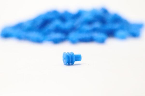 Blaue Einzeladerdichtung 1.00 bis 0.35 mm2
